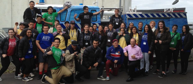 Students from Auckland University of Technology Business School